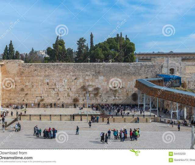 Western Wall Of Temple Mount Is A Major Jewish Sacred Place And One Of The Most Famous Public Domain In The World Jerusalem Israel