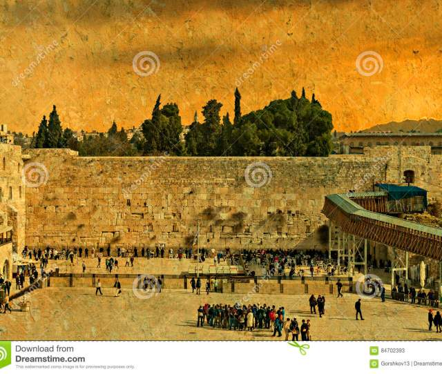 Ancient Western Wall Of Temple Mount Is A Major Jewish Sacred Place And One Of The Most Famous Public Domain In The World Jerusalem Israel
