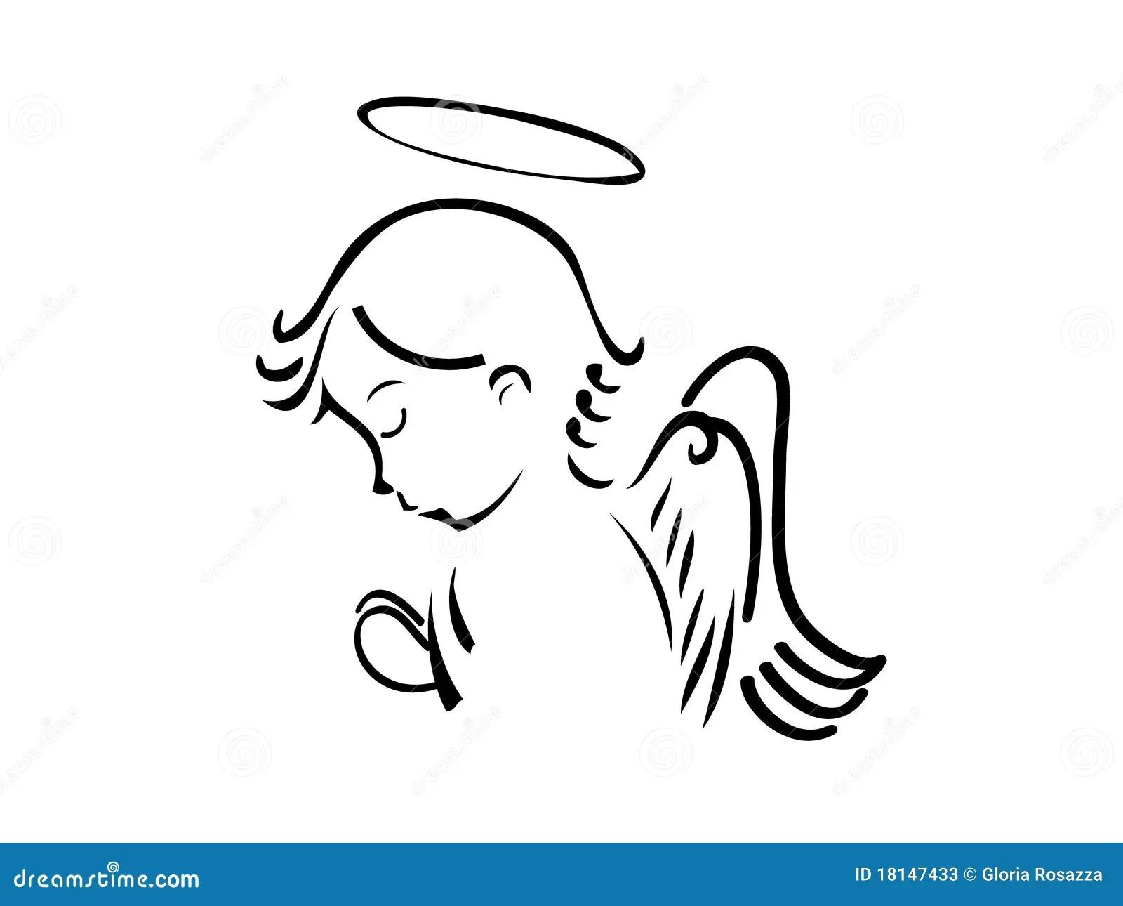 Angel Praying Stock Illustration Illustration Of Drawing