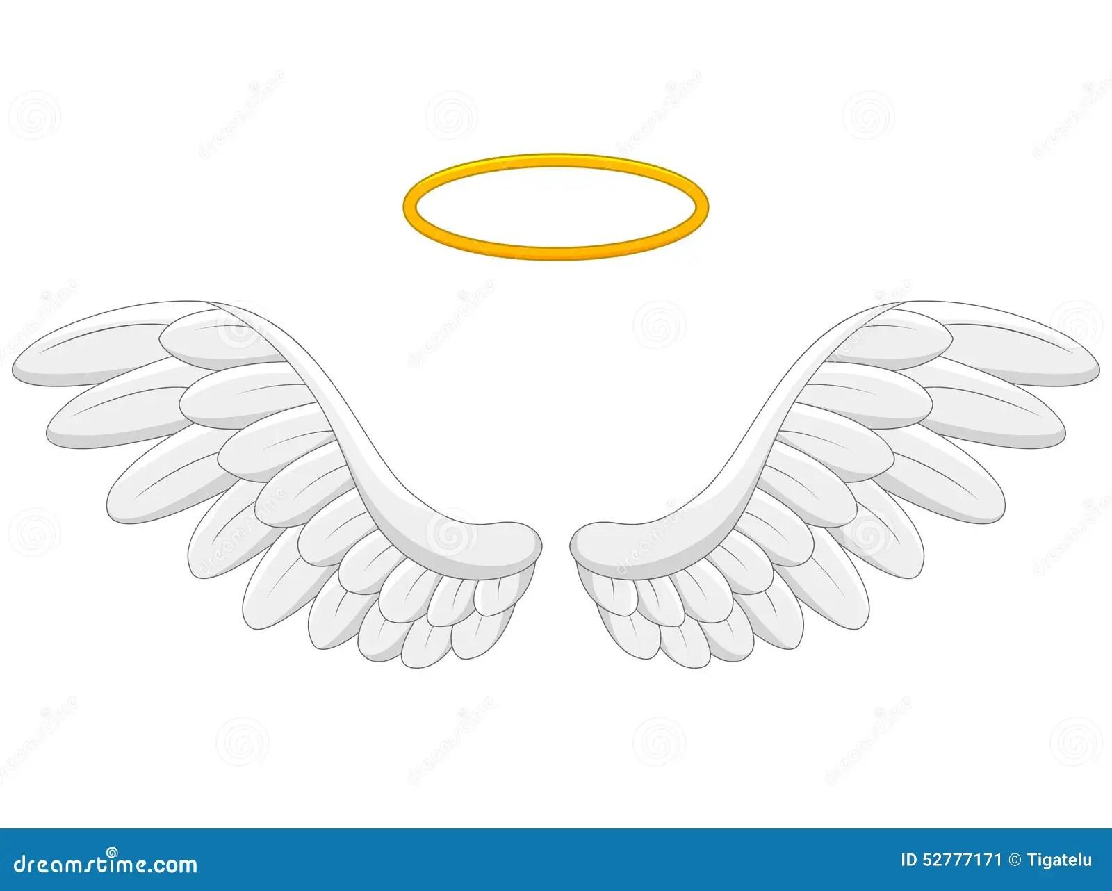 Angel Wings Cartoon Stock Vector Illustration Of Simple