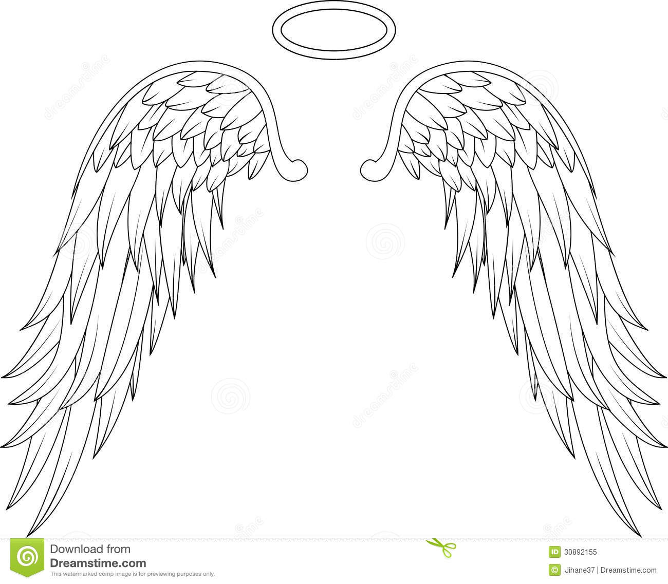 Angel Wings For You Design Stock Illustration