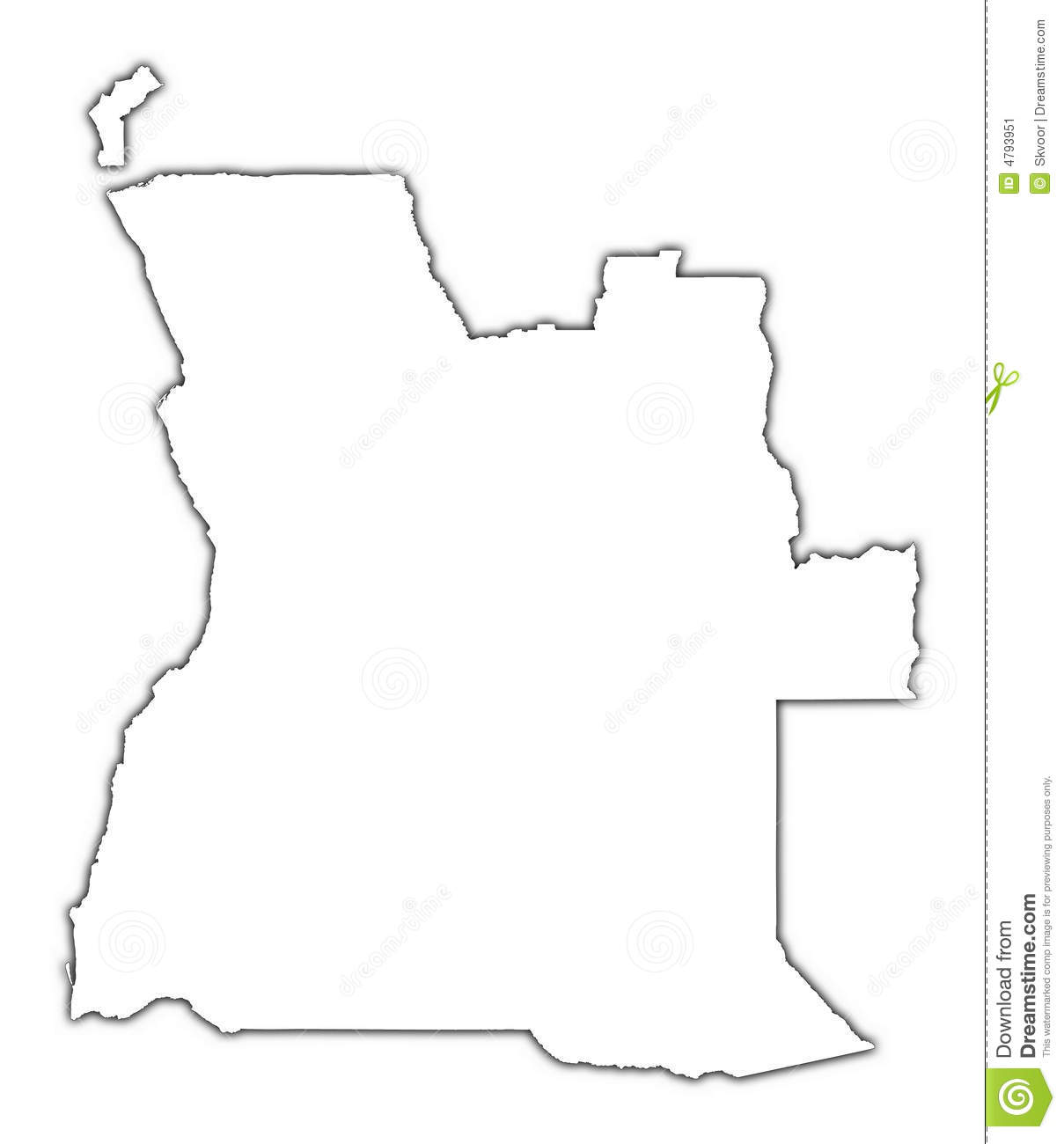 Angola Outline Map Stock Illustration Image Of Digital