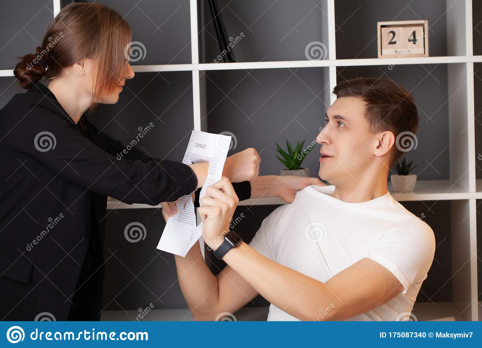 Angry Customer Has A Conflict With The Manager Of The