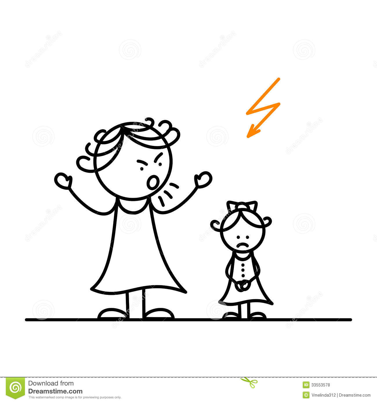 Angry Mother Stock Vector Illustration Of School