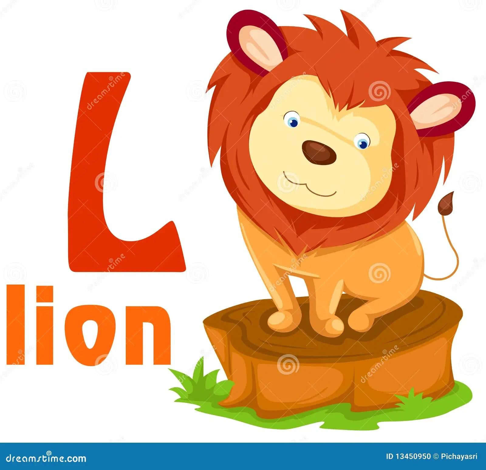 Animal Alphabet L Stock Vector Illustration Of Funny