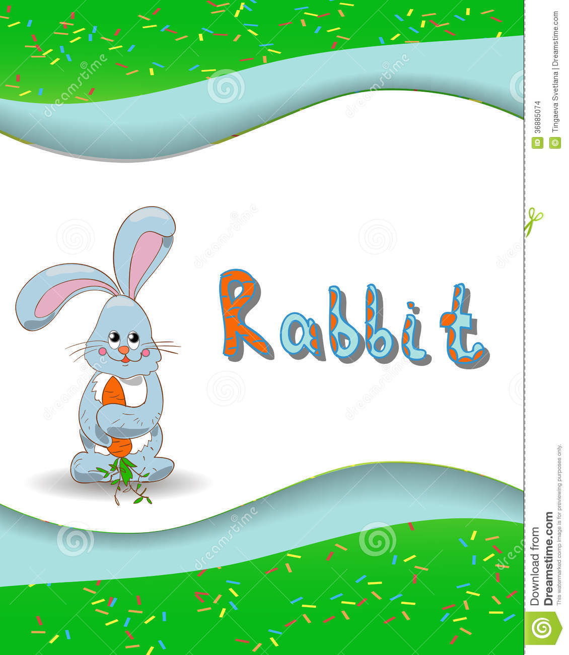 Animal Alphabet Letter R And Rabbit Stock Images