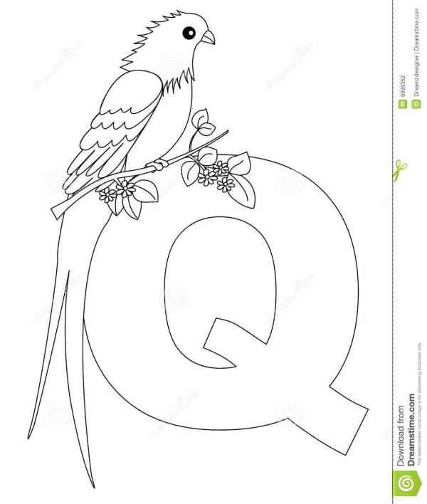letter q coloring page # 20