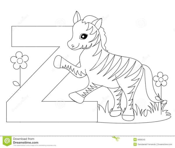 letter z coloring page # 12
