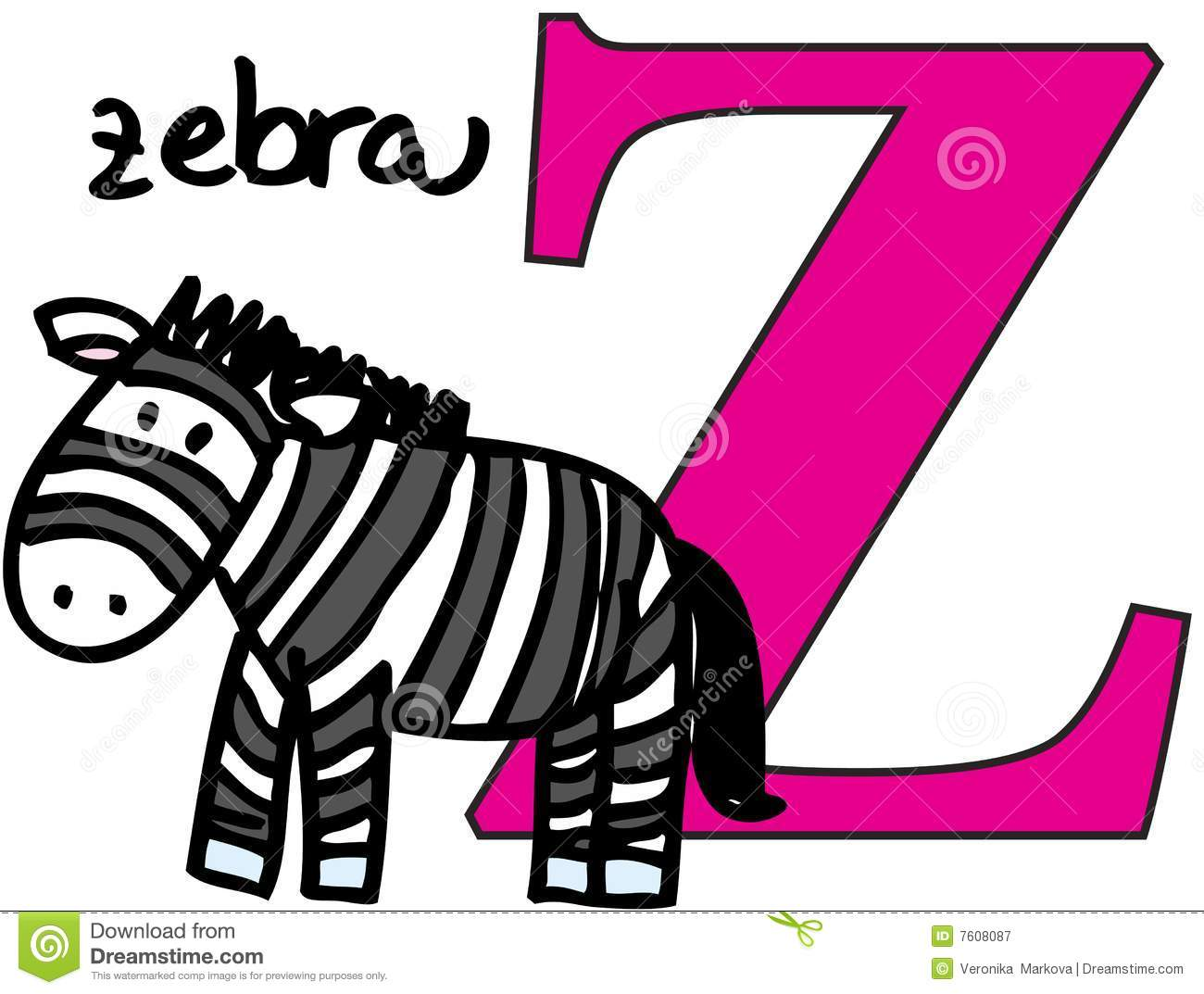 Animal Alphabet Z Zebra Stock Vector Illustration Of