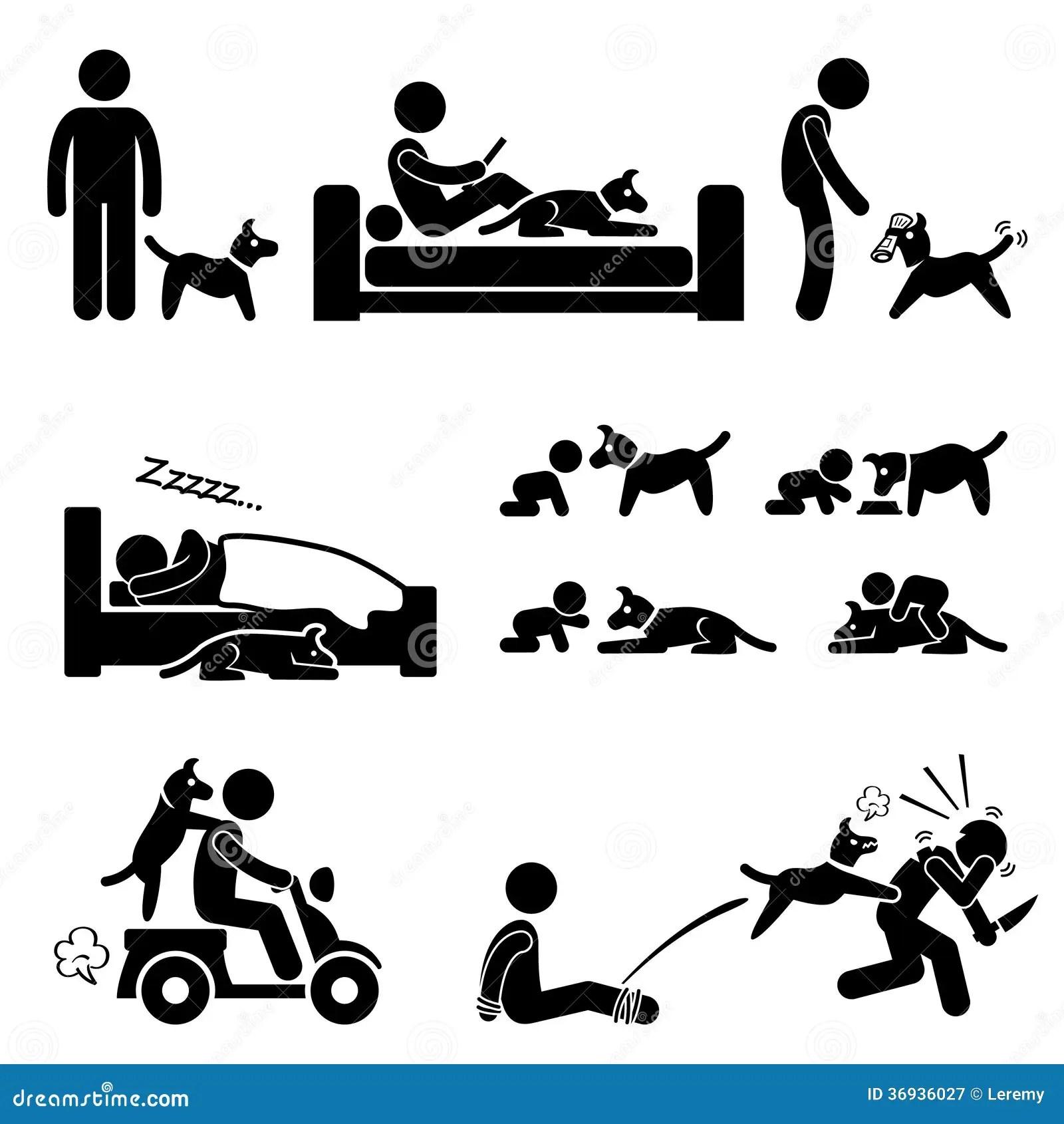 Animal Familier De Relations D Homme Et De Chien