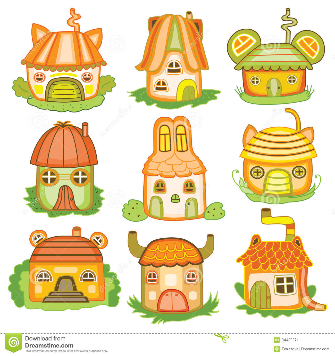 Animal Houses Vector Illustration Stock Vector