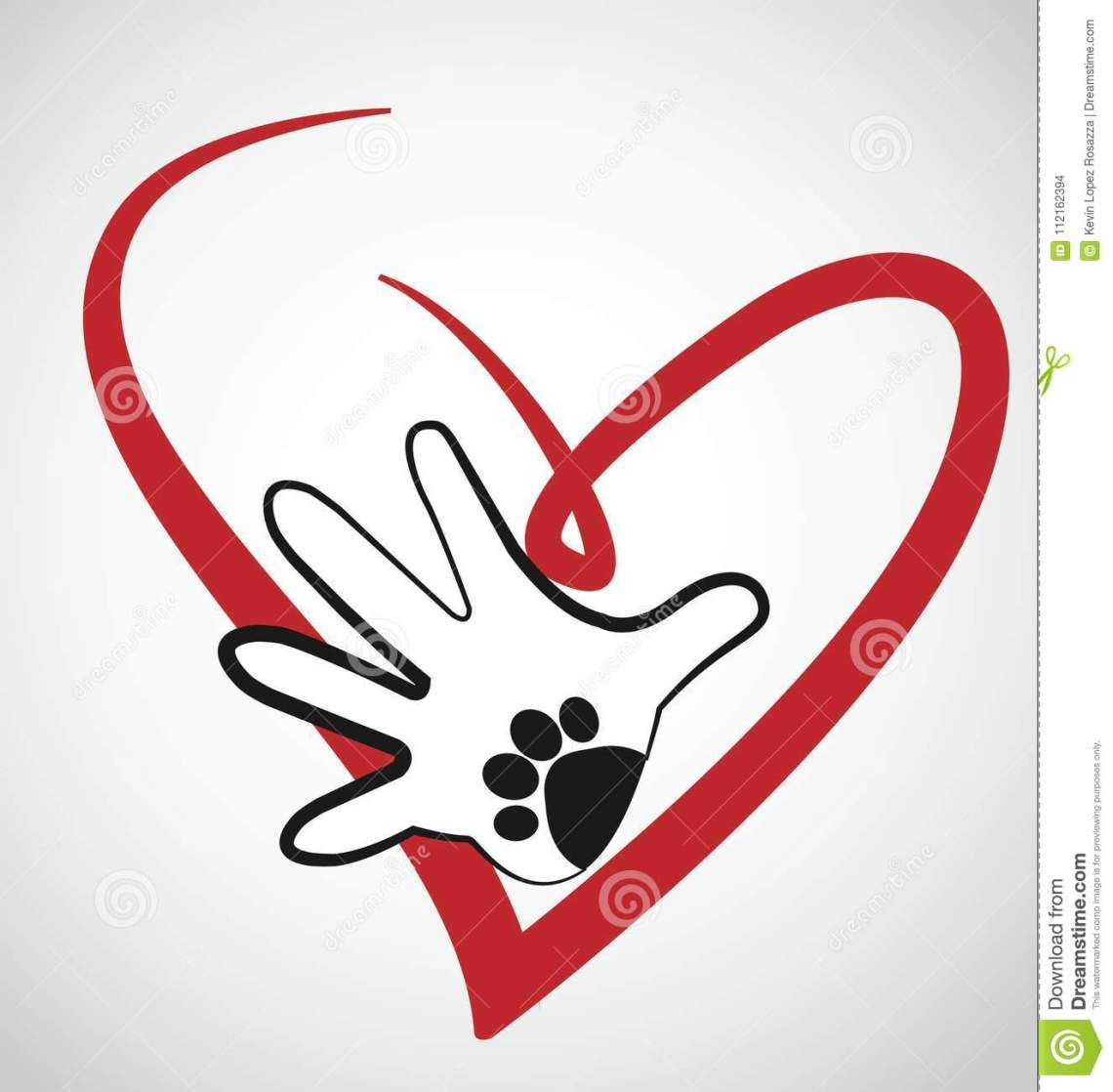 Download Animal Lover With Hand And Paw Icon Stock Vector ...