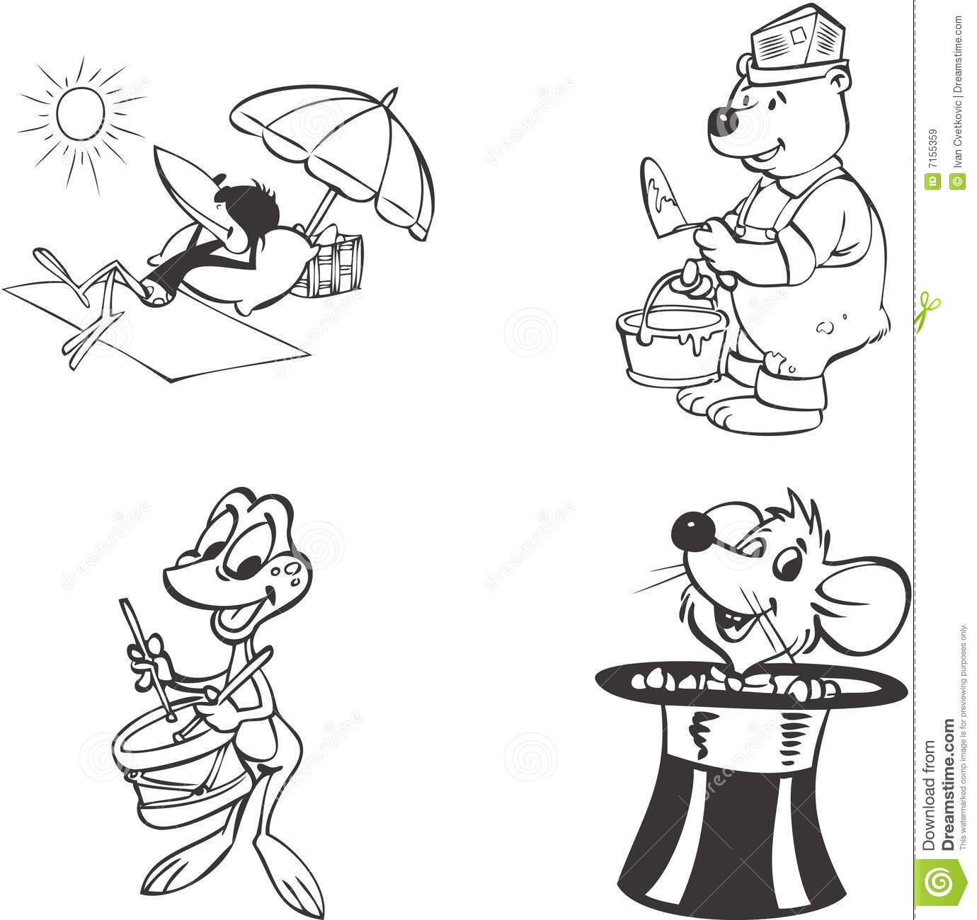 Animal Mascots Royalty Free Stock Images