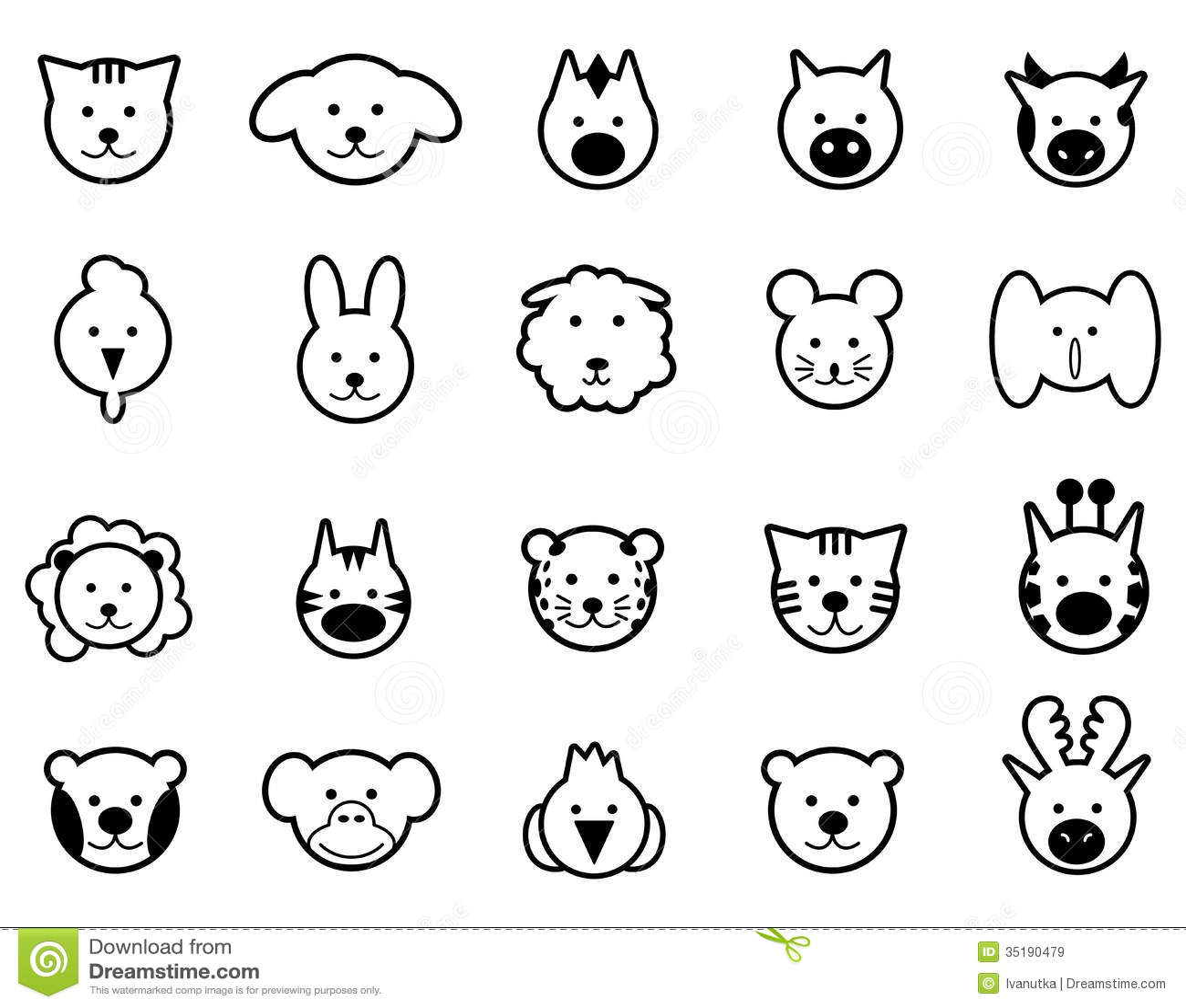 Animals Black Icons Stock Vector Illustration Of Sheep