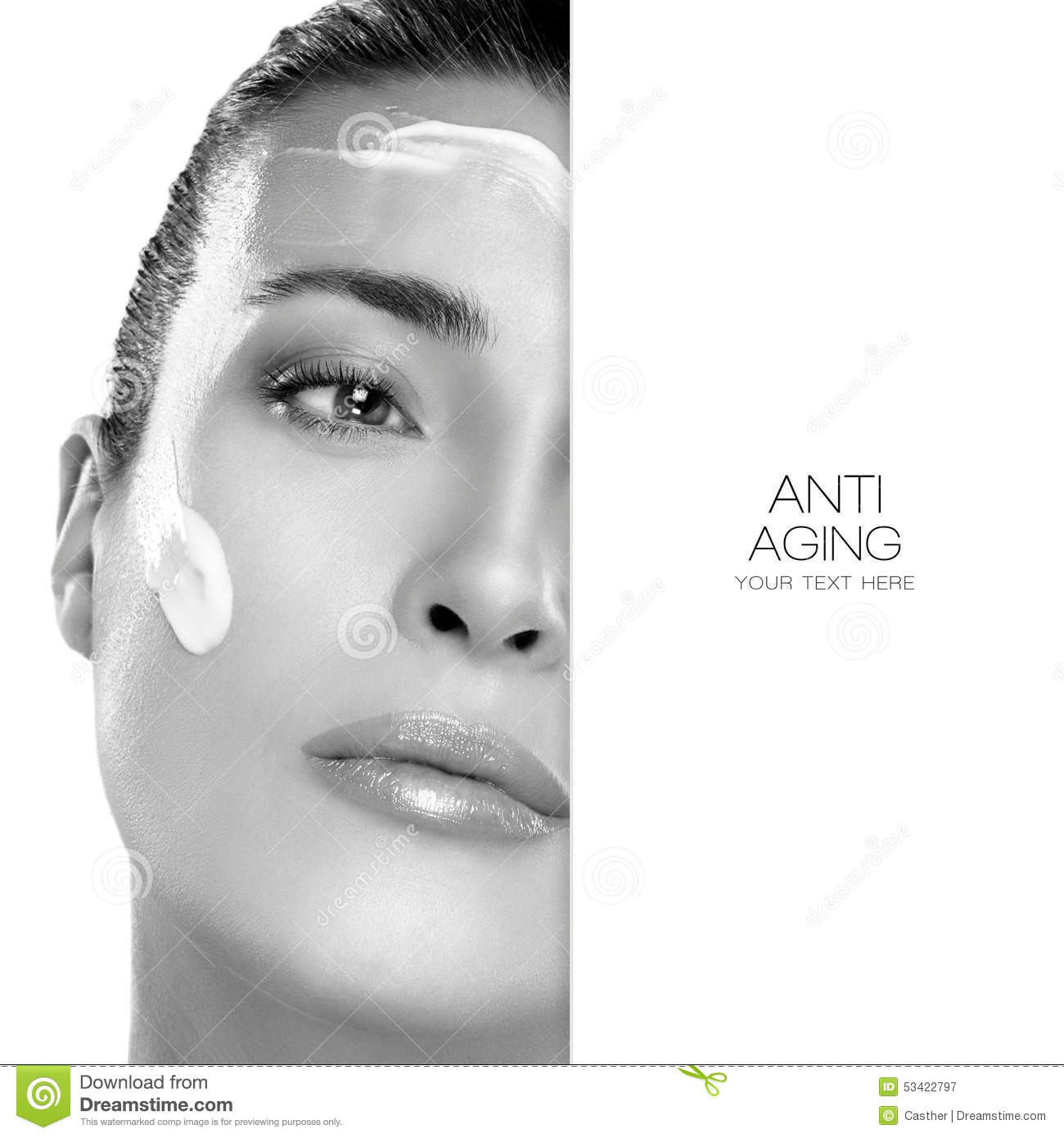 Anti Aging And Beauty Concept Spa Treatment Template Design Stock Photo