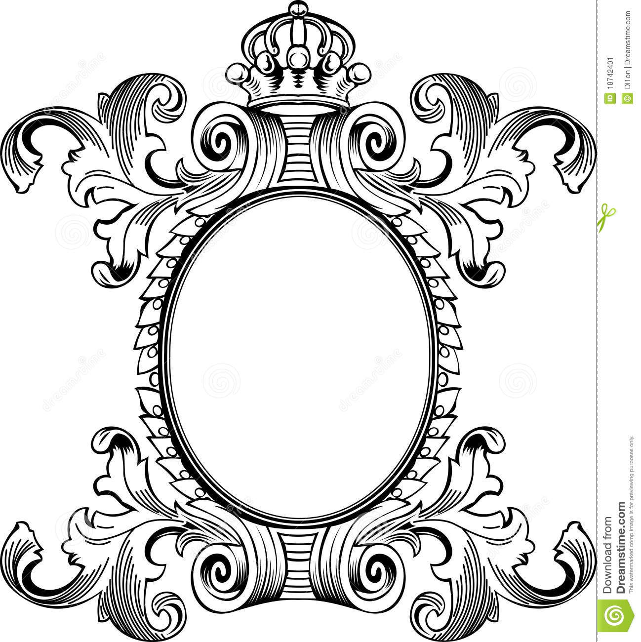 Antique Frame Engraving Stock Vector Illustration Of