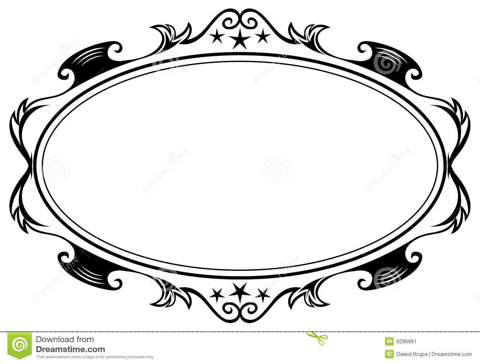 Antique Oval Frame Stock Image