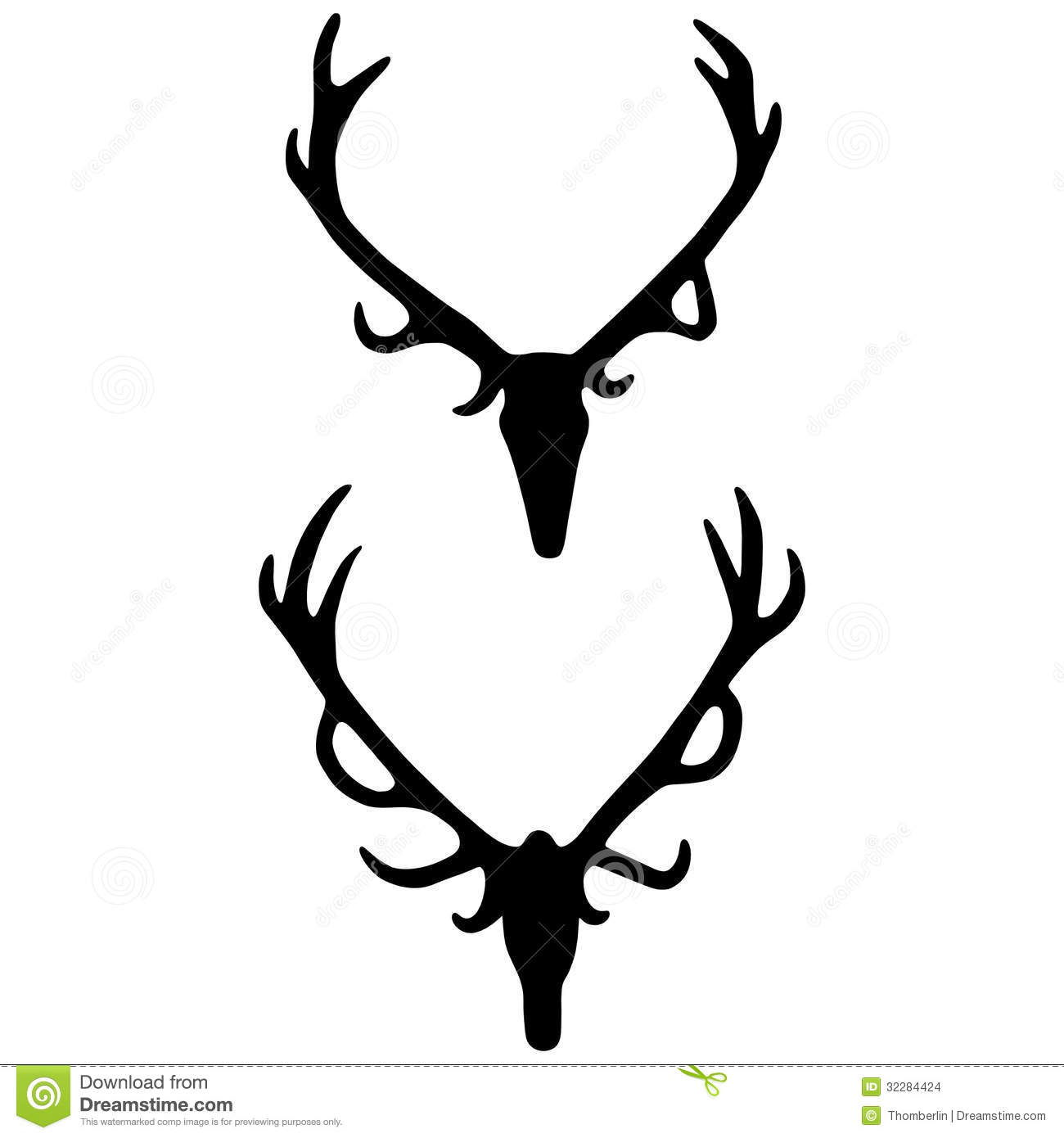 Antlers Vector Stock Images