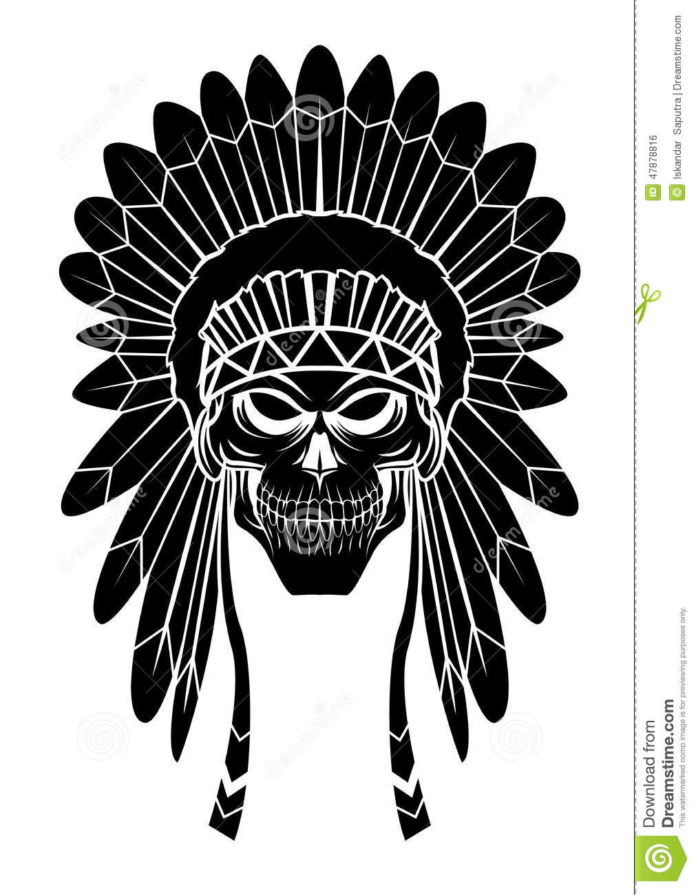 Apache Head Stock Vector Illustration Of Pride Graphic