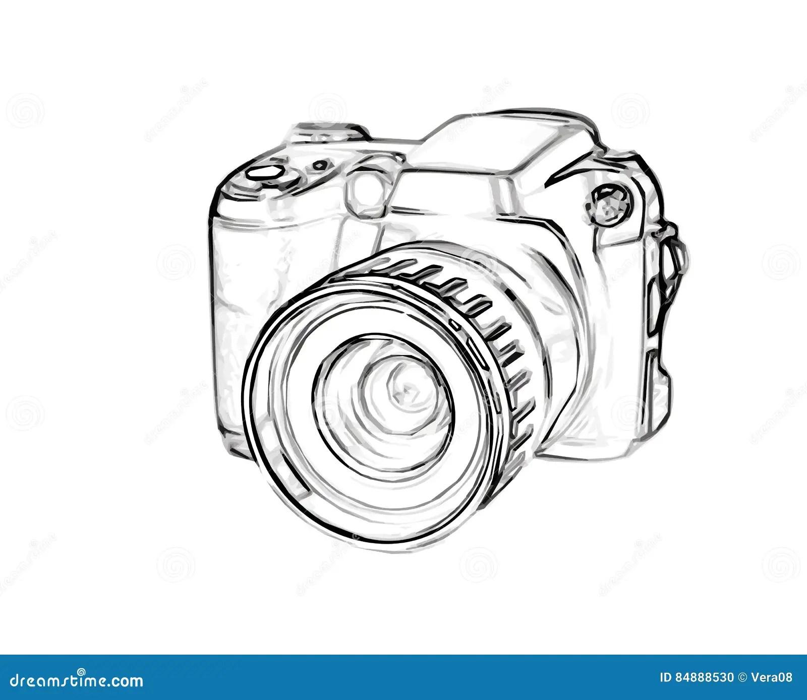 Appareil Photo Numerique De Dessin Illustration De Vecteur