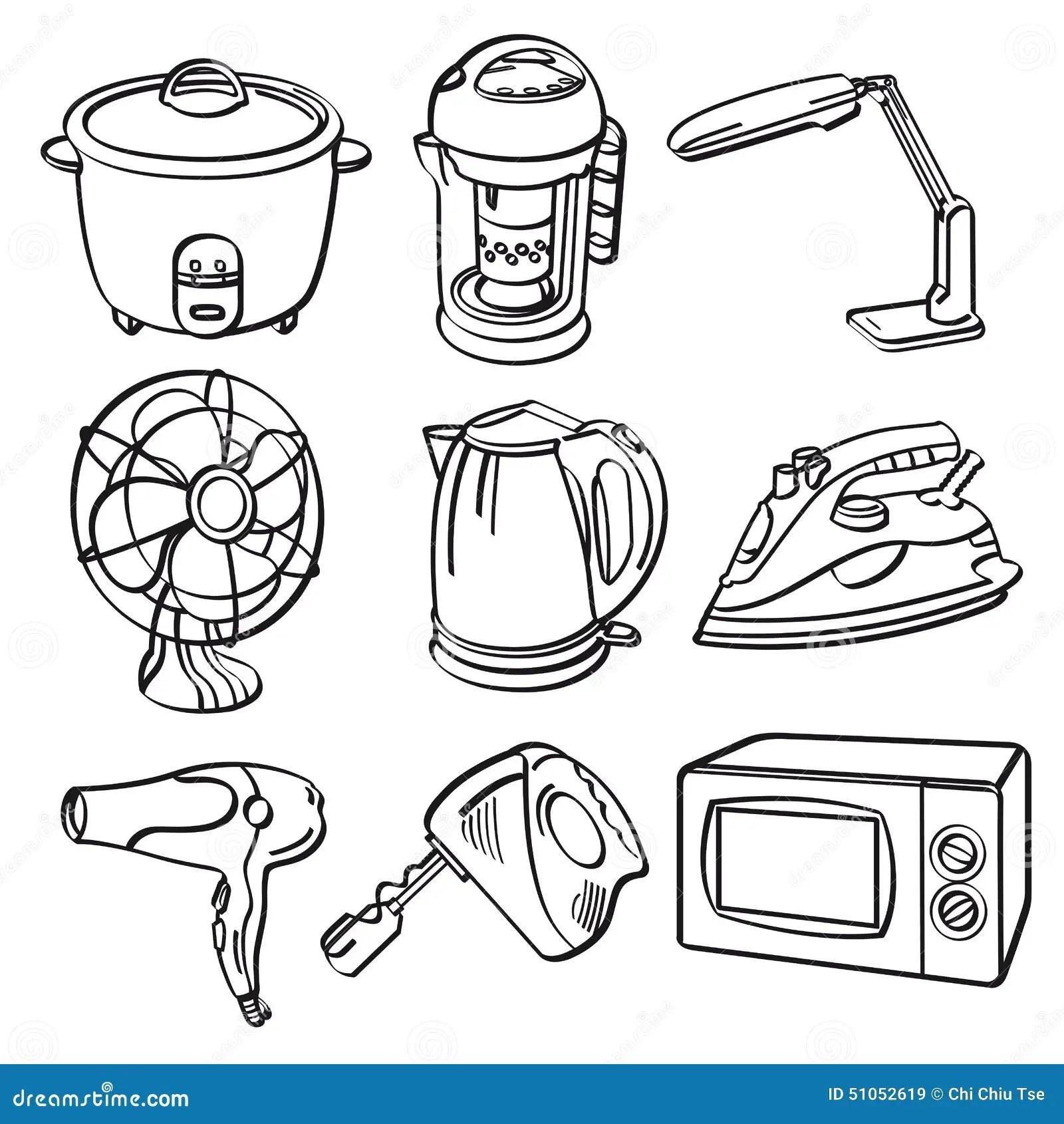 Appareils Electriques A La Maison Illustration Stock