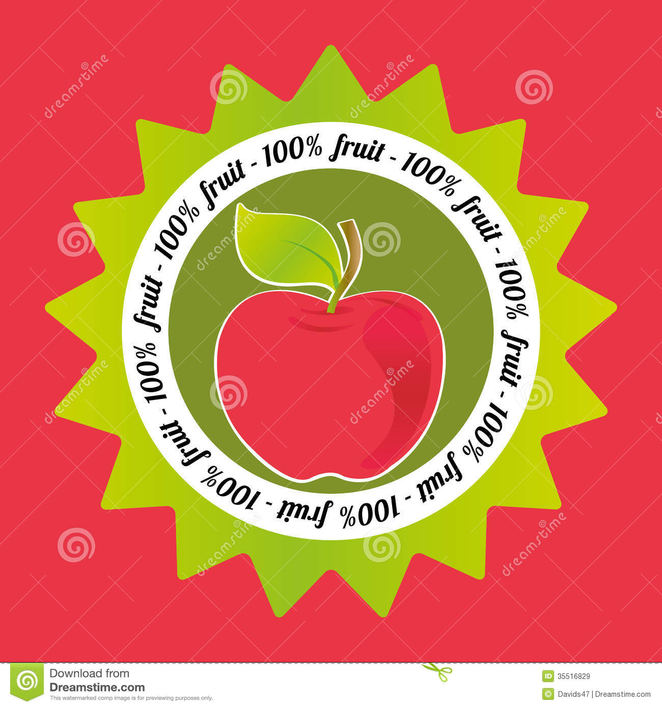 Apple Label Royalty Free Stock Images