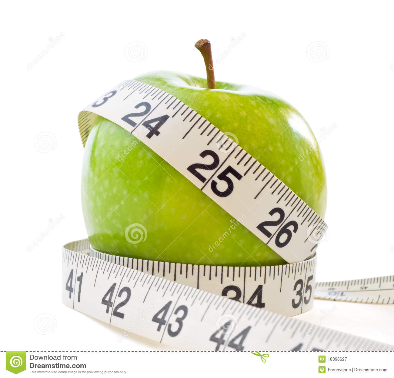Apple With Measuring Tape Stock Image Image Of