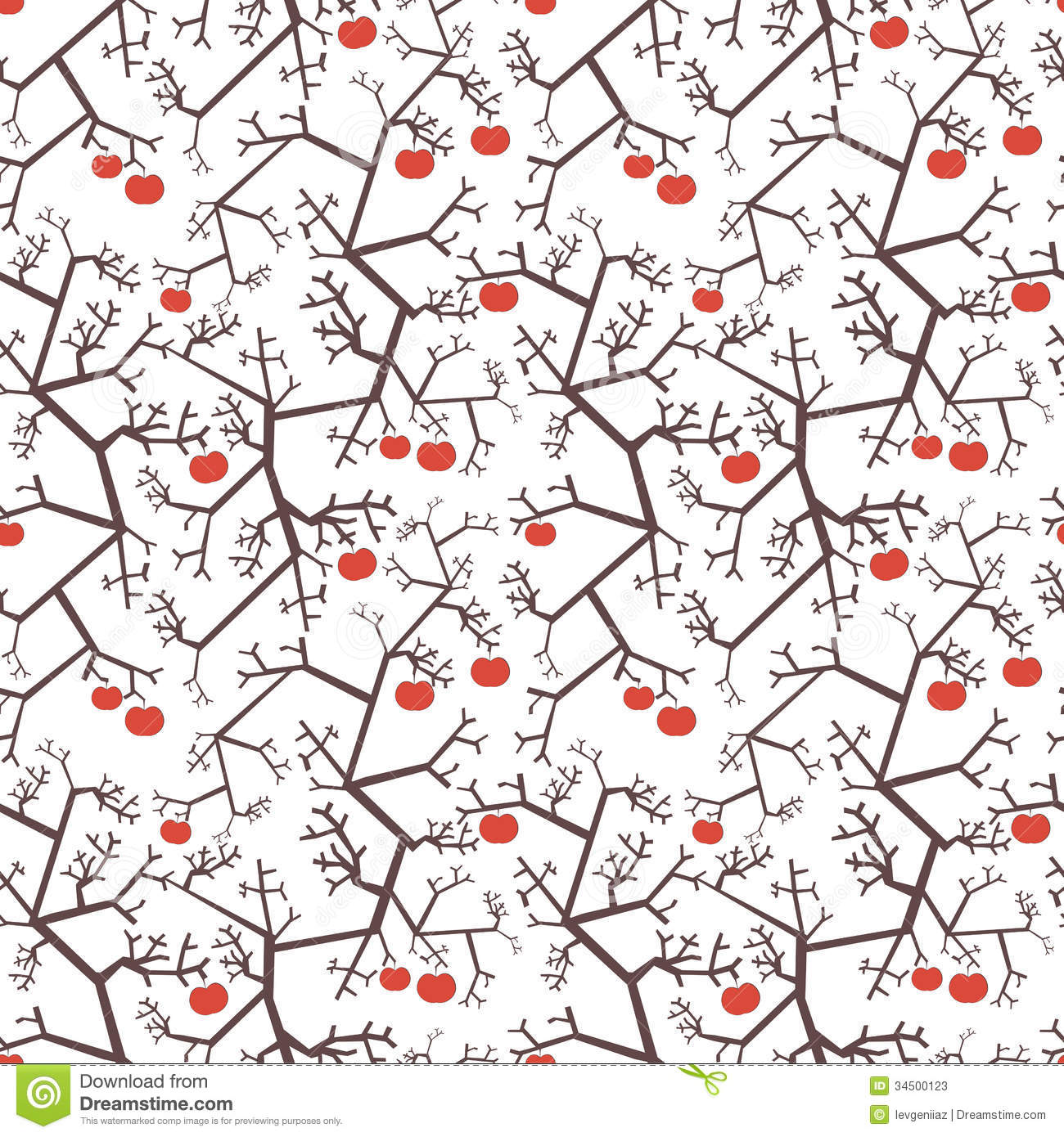 Apple Trees Pattern Stock Photos