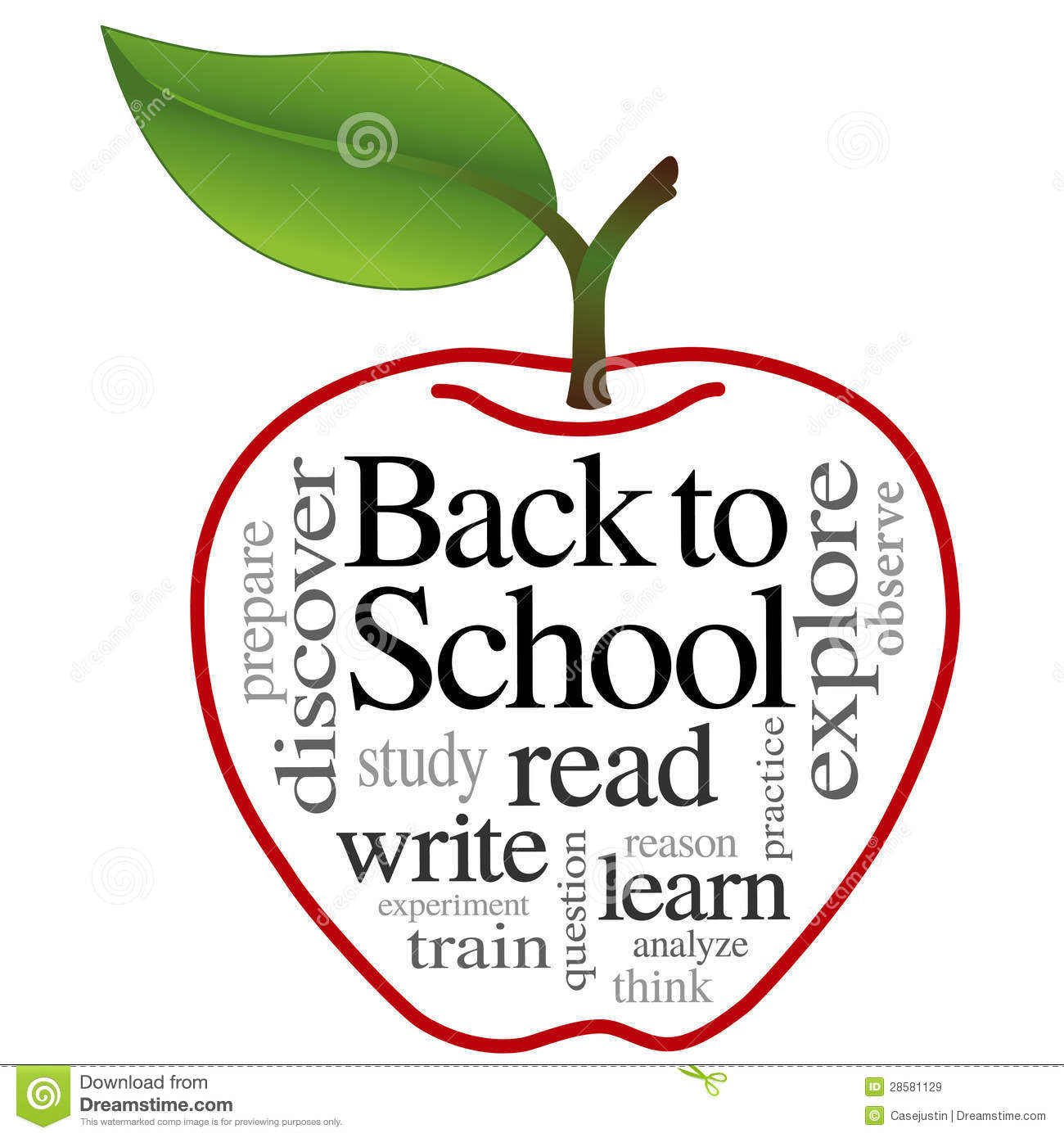 Apple Word Cloud Back To School Royalty Free Stock Images