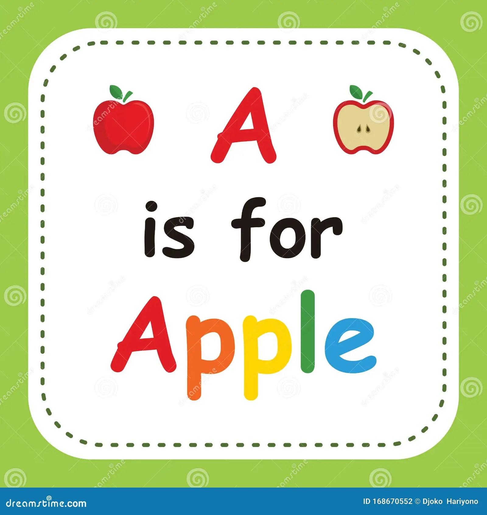 A Is For Apple Worksheet For Kindergarten Vector
