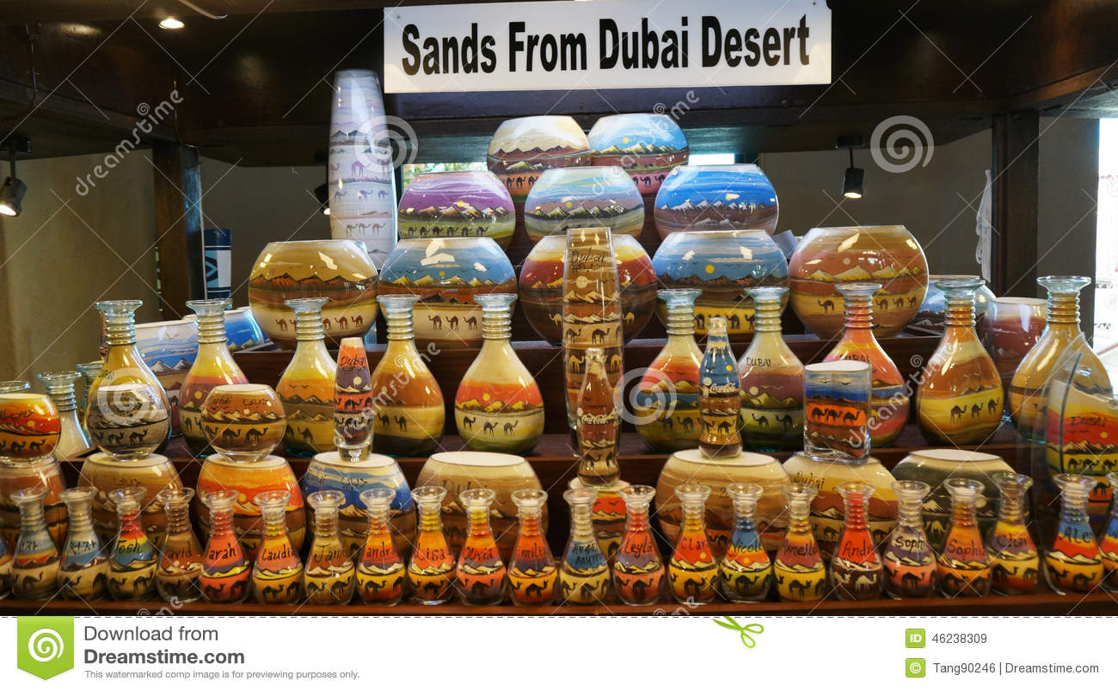 Arabian Traditional Sand Pots In Dubai Old Market
