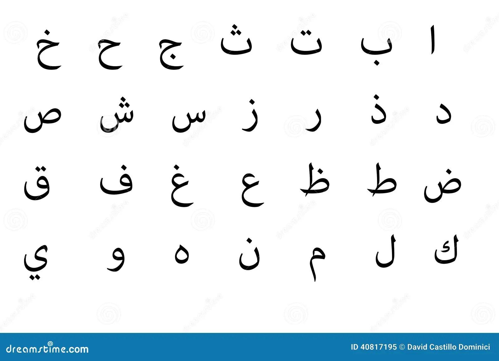 Arabisches Alphabet Stock Abbildung