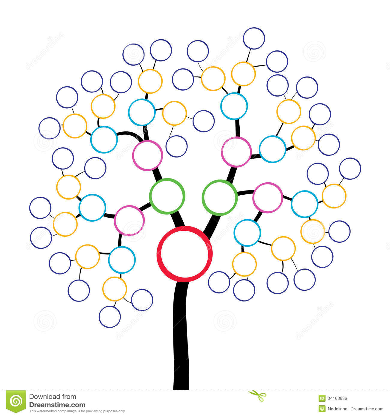 Arbre Genealogique Illustration De Vecteur Illustration Du Parents