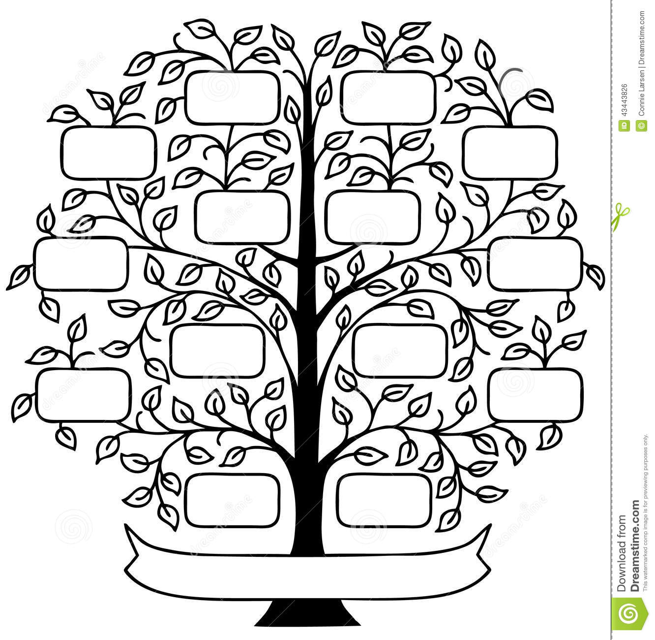 Arbre Genealogique Illustration De Vecteur Illustration Du Arbre