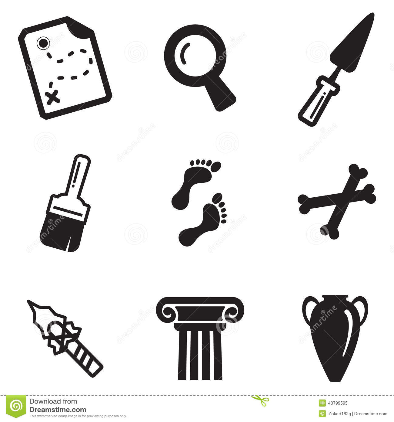 Archeology Icons Stock Vector Illustration Of Greece