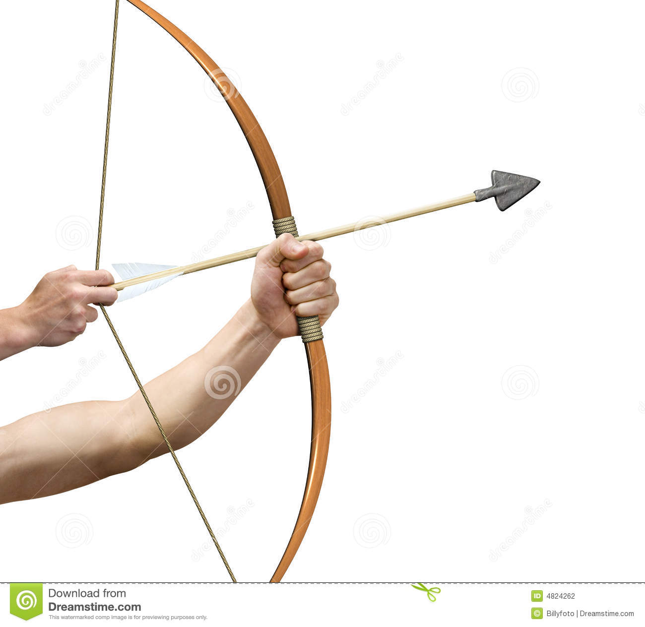 Archer Preparing To Release Arrow Stock Photography