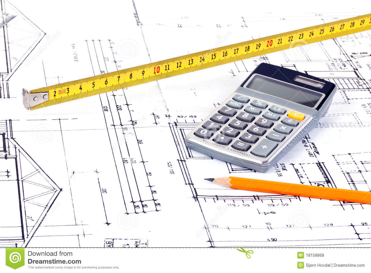Architect Plans Stock Photo Image Of Concept Drawing