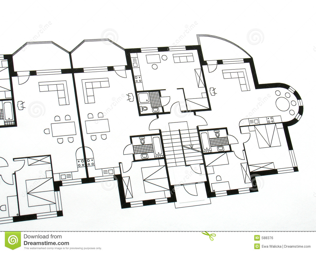 Architectural Plan Stock Photo Image Of Diagram Outline
