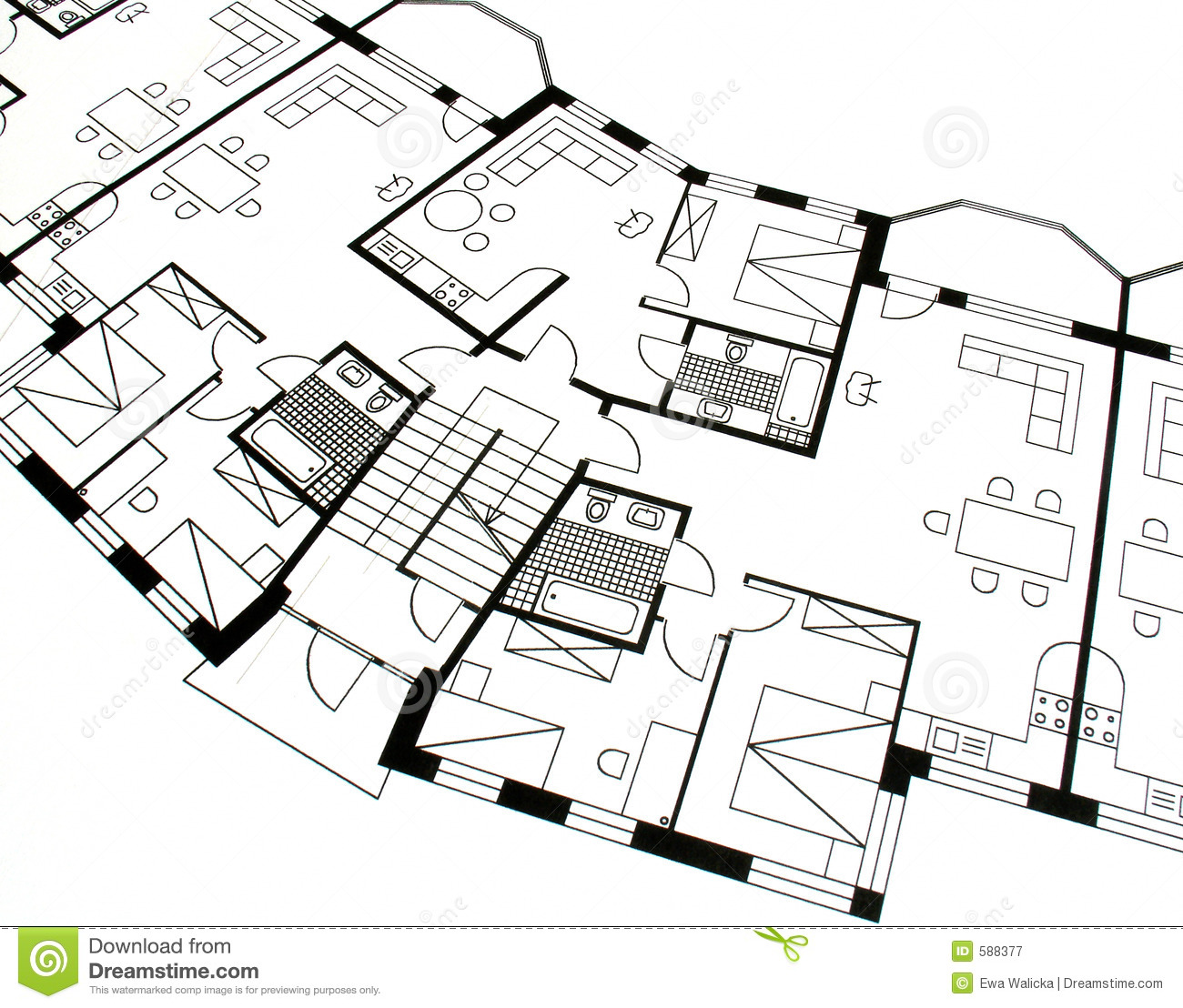 Architectural Plan Stock Image Image Of Measurements