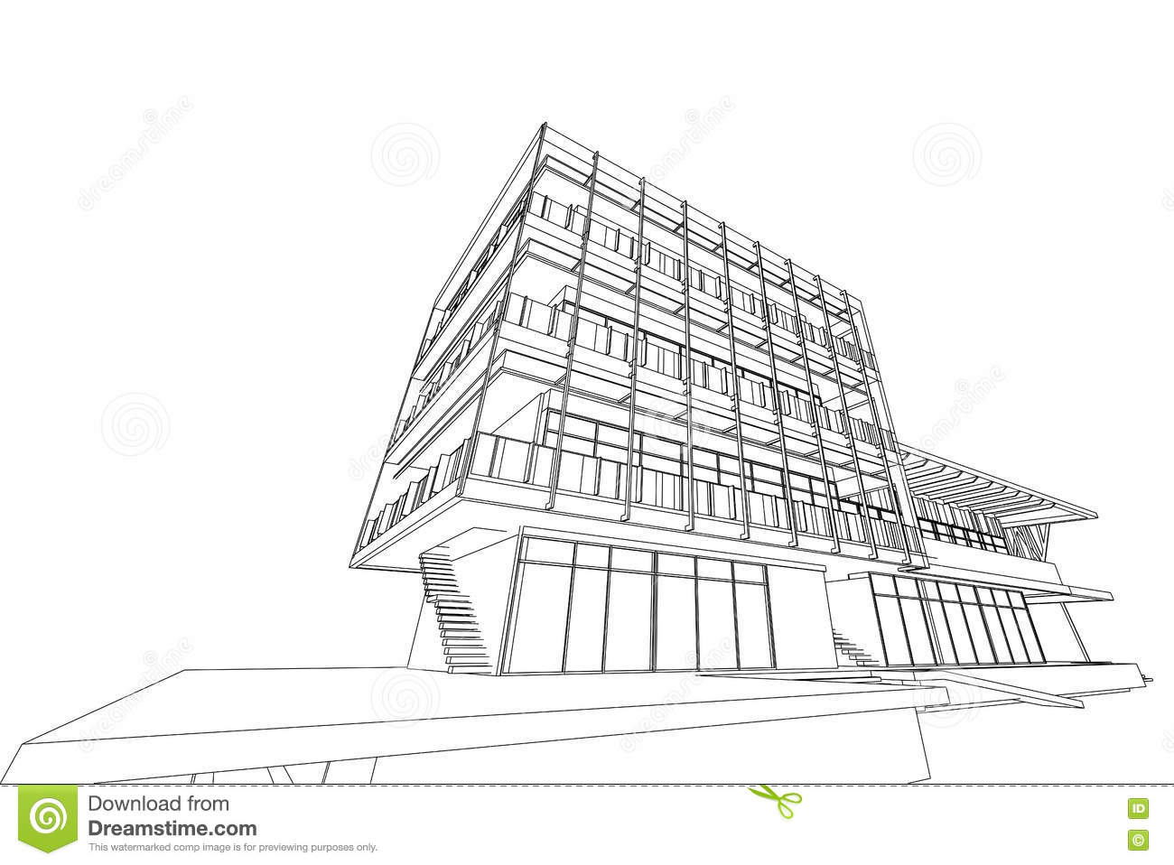 Architecture Abstract 3d Illustration Building Structure