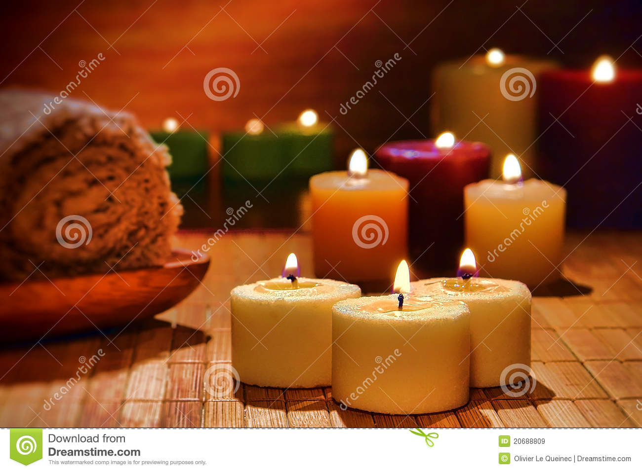 Aromatherapy Candles Spiritual Relaxation In A Spa Royalty