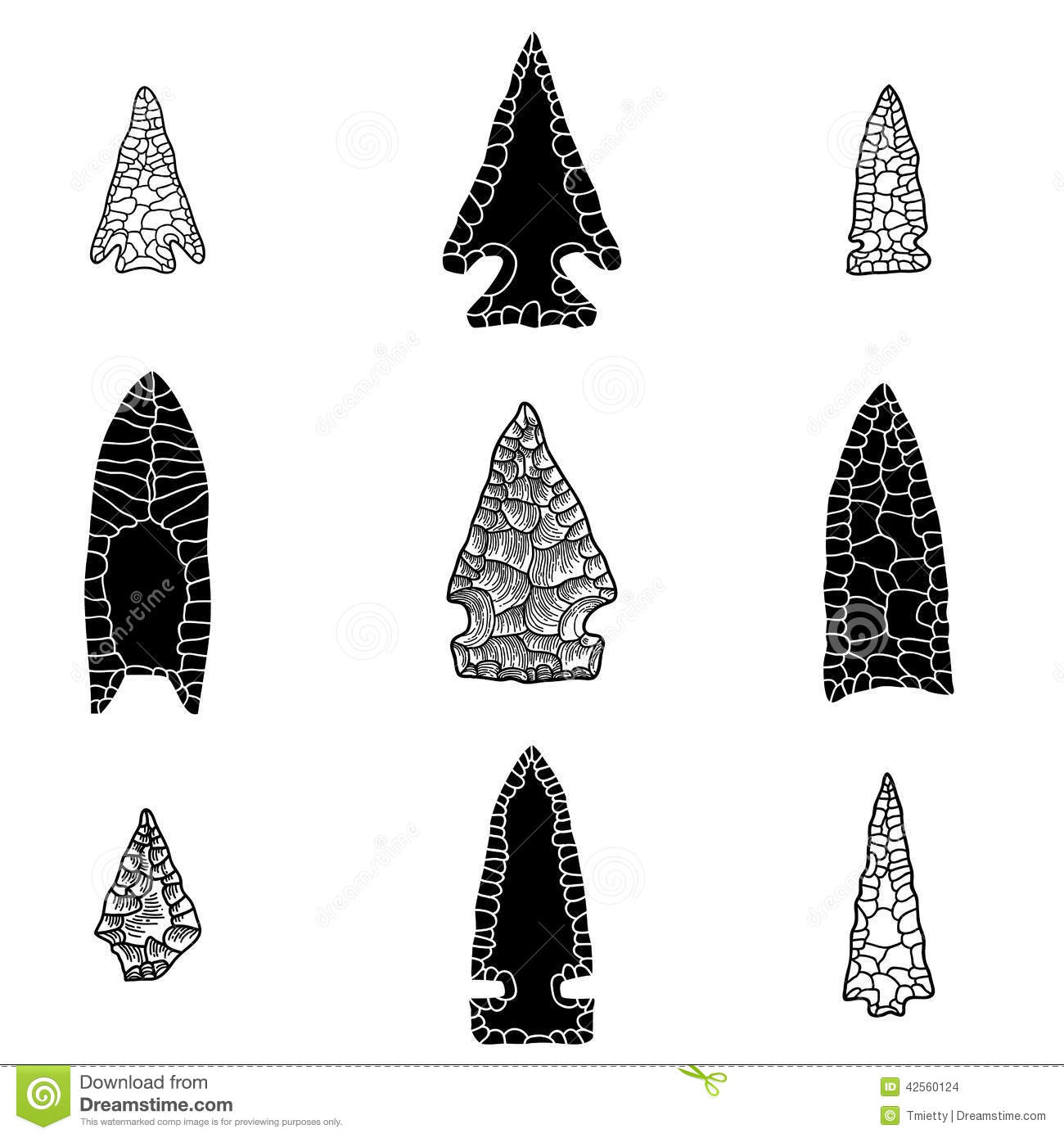 Arrowhead Illustrations Stock Vector Illustration Of