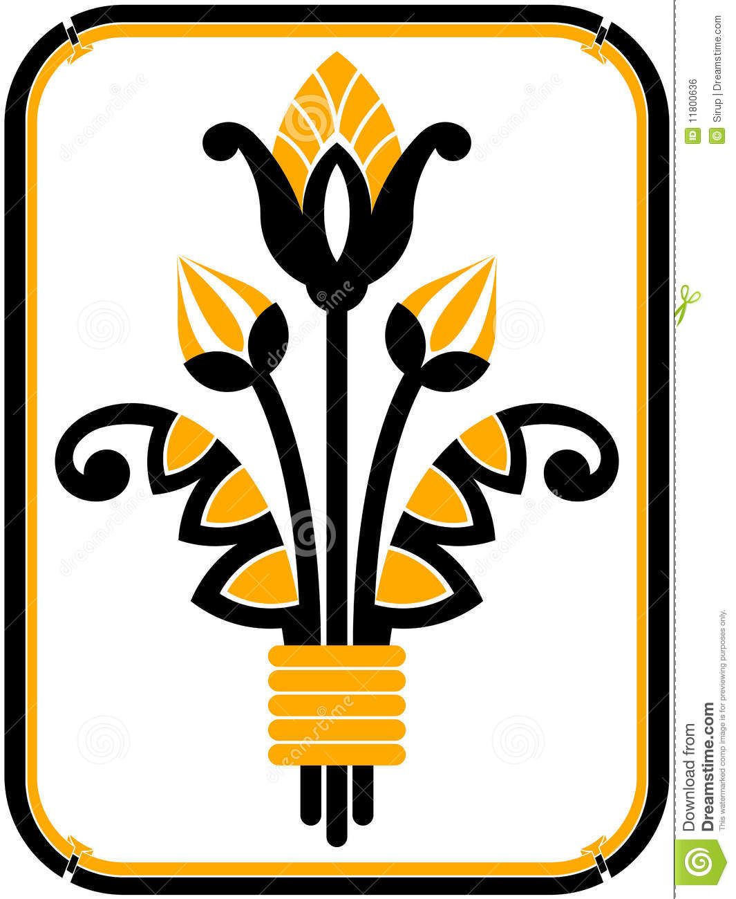Art Deco Design Element And Frame Stock Vector