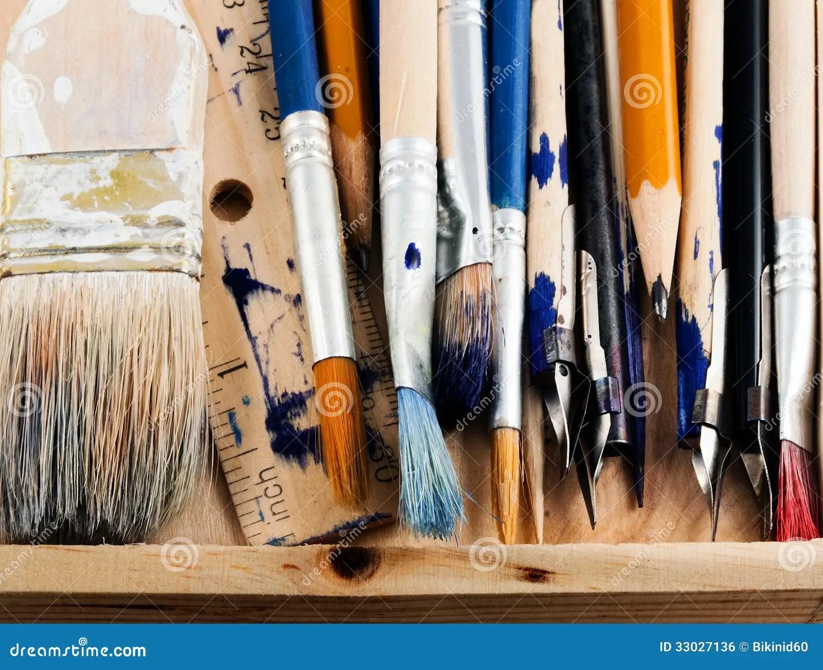 Art Tools Stock Photo Image Of Multi Mixed Nobody