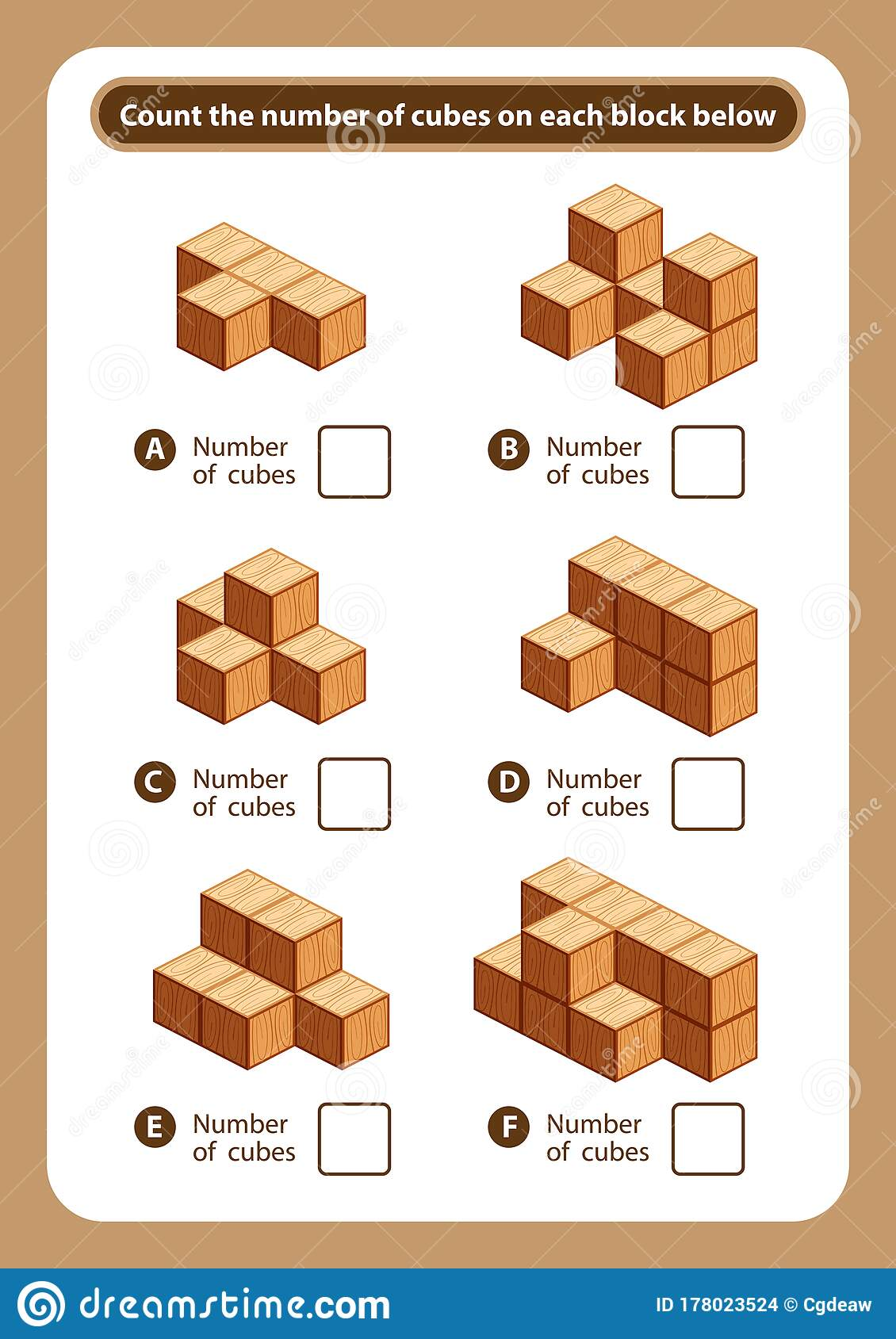 Articles Sheet Count The Number Of Cubes On Each Block