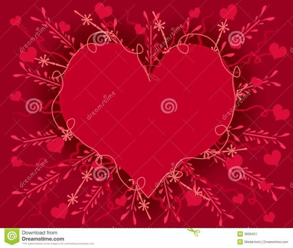 Artsy Valentines Day Heart Card Stock Image Image 3909451