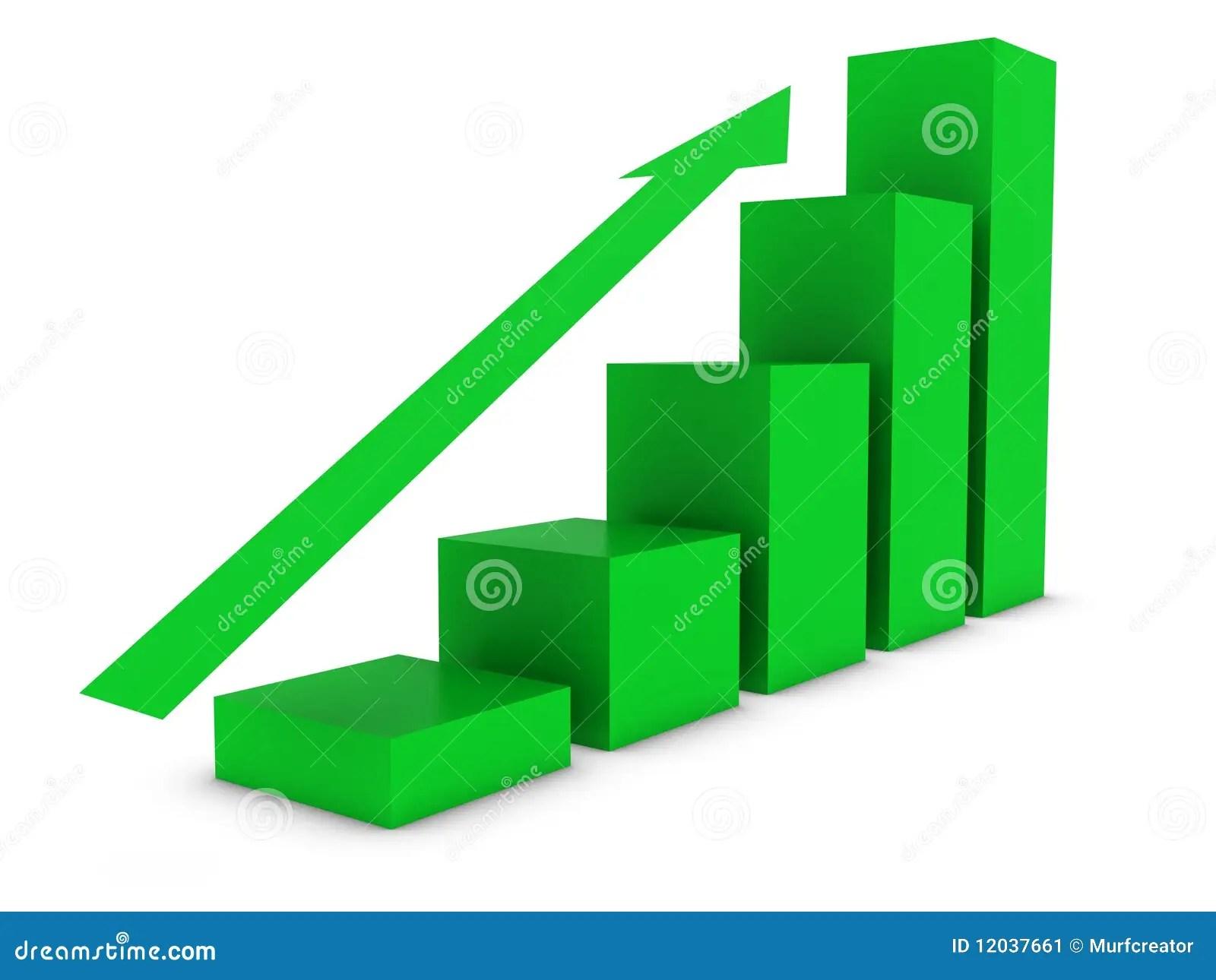 Ascending Bar Chart Stock Illustration Illustration Of
