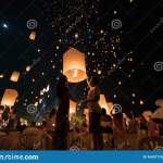 An Asian Couple Who Is Going To Release A Lantern During Chiang Mai Lantern Festival Editorial Photography Image Of Attraction Lantern 164317757