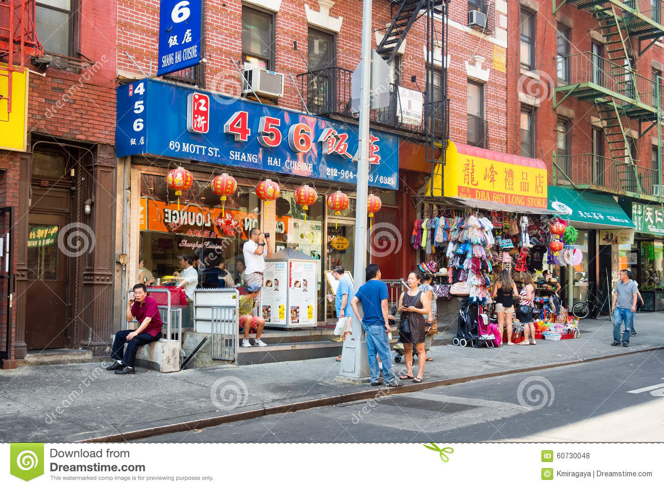 Asian Immigrants At Chinatown In New York Editorial Stock