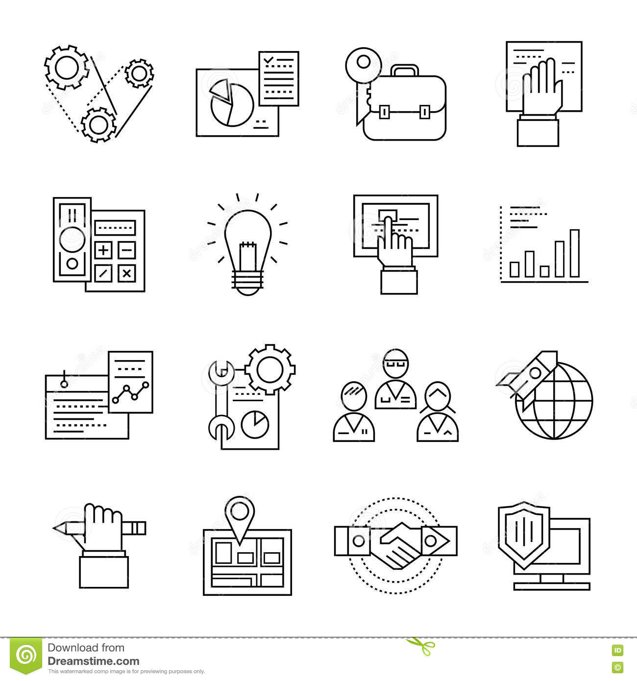 Assembly Line Icon Set Stock Vector Image Of Packaging